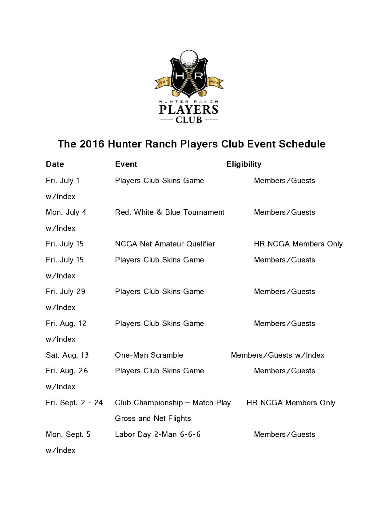 16 06 30 2016 Players Club Schedule updated page0001