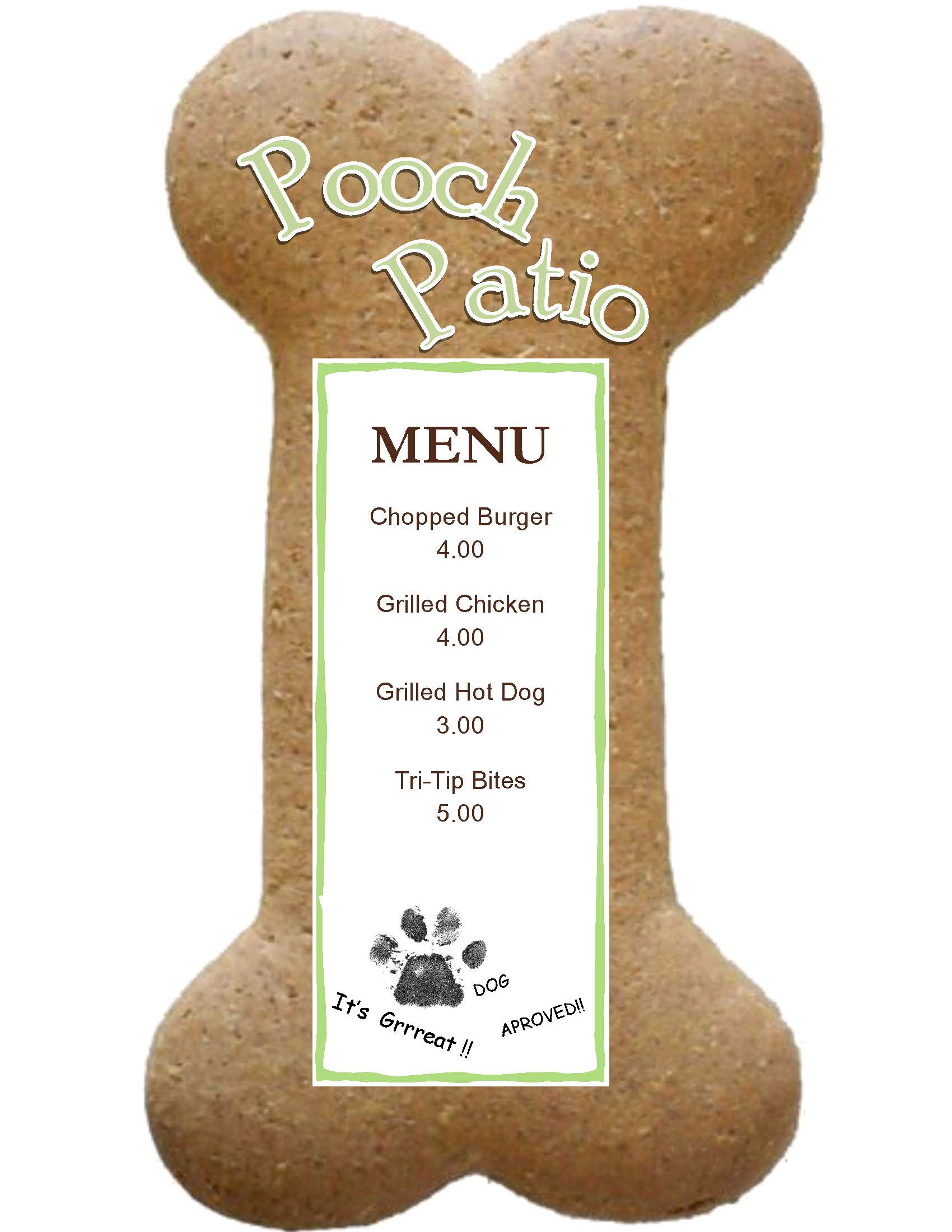 Pooch Patio Menu