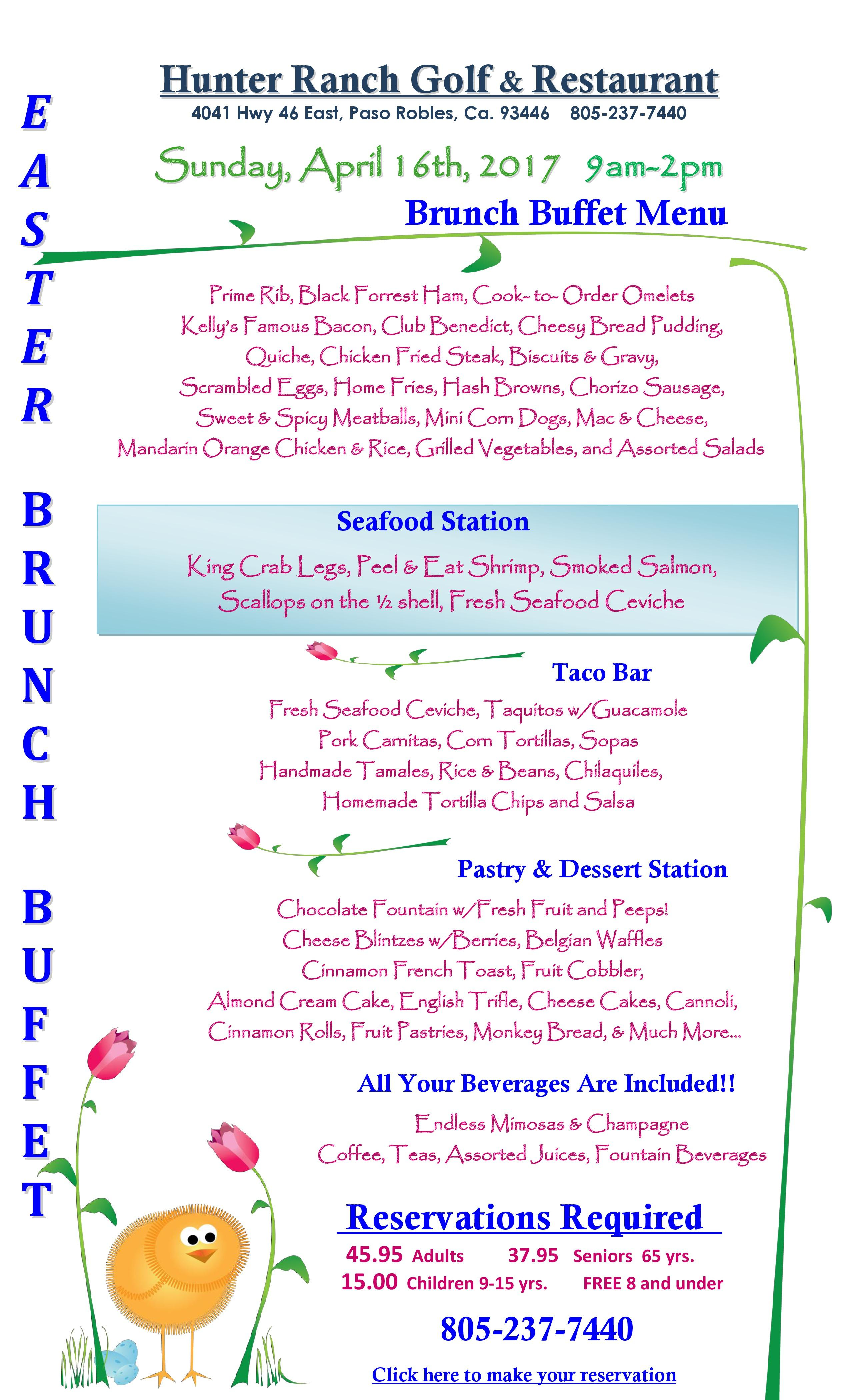 17 03 16 2017 Easter Brunch Buffet Menu 2017 page 0