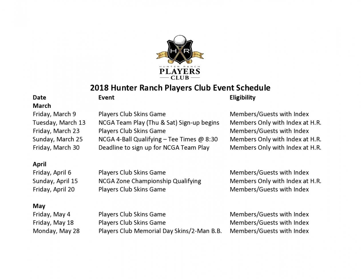18 02 01 2018 Players Club UPDATED Tournament Schedule page0001