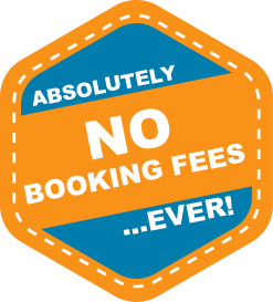 Absolutely No Booking Fees Ever